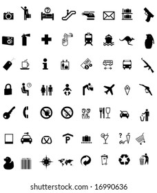 a lot of Signs/Symbols with Shadows