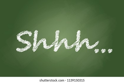 Silence no speaking no talking shhh vector zzz sign please be quiet silent no talking no sound off flat icon shhh quiet whisper stop sings forbad chalkboard blackboard school banner vintage fun funny
