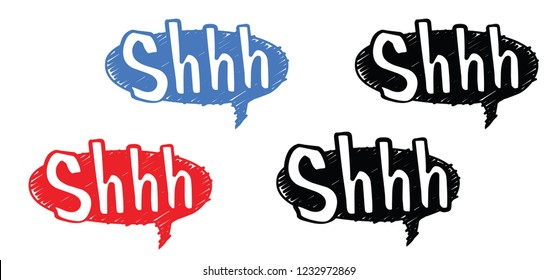 Silence shhh no speech bubble no speaking no talking shhh vector sign silhouette of please be quiet silent no talking sound off flat whisper stop signs forbad talk mute icon silence fun funny Hearing