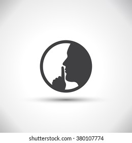 silence icon images, stock photos & vectors | shutterstock