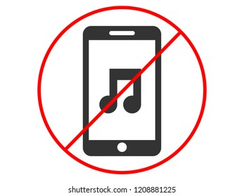 Silence your mobile phone vector illustration eps 10
