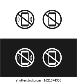 Silent Handphone Alert Icon Design Vector