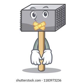 Silent meat hammer utensil isolated on mascot