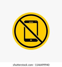 Silent mode handphone icon, sign warning vector design