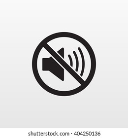Silent mode icon isolated. Not sound vector, quiet sign. Modern simple flat sign. Business, internet concept. Trendy mono symbol for web site. Logo illustration.