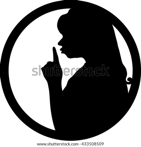 silent please be quiet sign vector stock vector royalty free