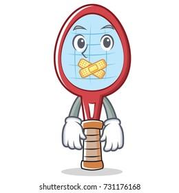 Angry Tennis Racket Character Cartoon Stock Vector Royalty Free