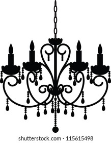 Chandelier silhouette images stock photos vectors shutterstock silhouette of antique chandelier aloadofball Gallery