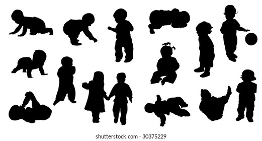 Silhouette baby