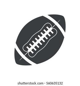 silhouette ball american football sport vector illustration eps 10