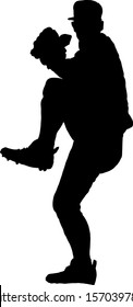 Silhouette of a baseball pitcher winding up to throw a ball. Vector illustration.