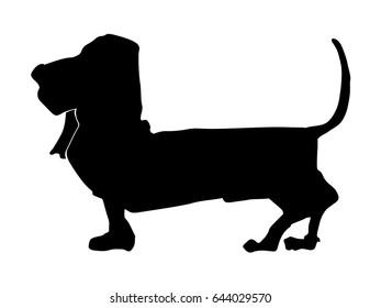 silhouette of basset hound