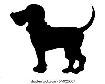 silhouette of beagle