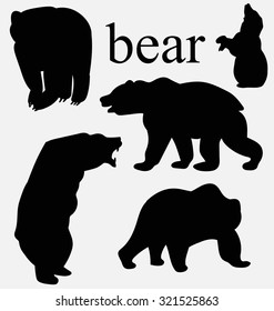 the silhouette of a bear