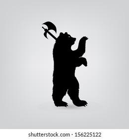 silhouette bear  icon