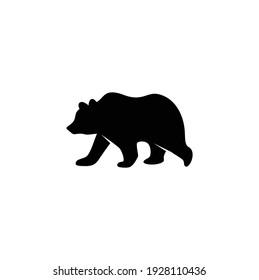 Silhouette Bear Icon, Vector Concept Illustration for Design