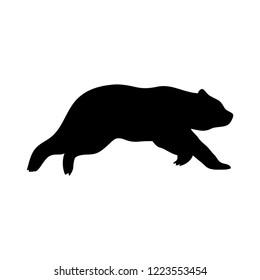 Silhouette Bear Run