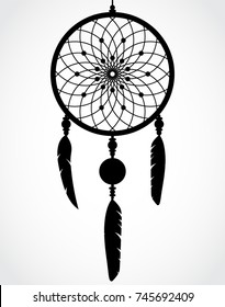 silhouette beautiful dreamcatcher