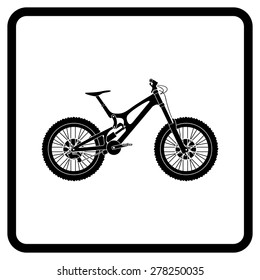 Silhouette Bike Downhill (DH).