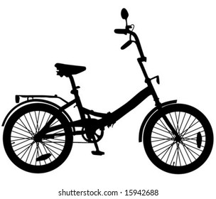 silhouette of bike for teenager