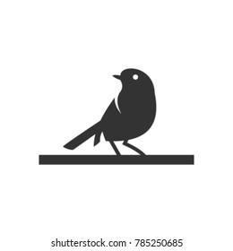 silhouette of birds, in white background, vector illustration