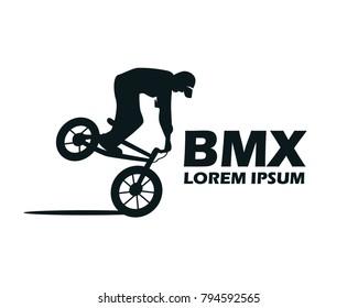 silhouette bmx rider logo vector.BMX Logo vector