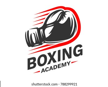 Silhouette of boxing gloves - boxing emblem, logo design, illustration on a white background