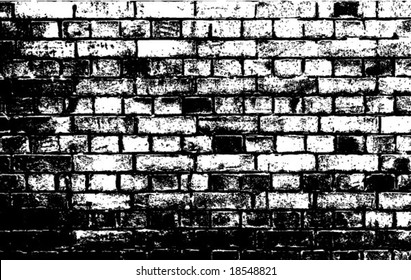 Silhouette of brick wall. VECTOR