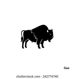 silhouette of the buffalo