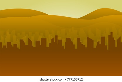 silhouette building background