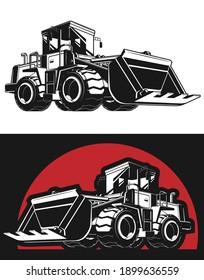 Silhouette Bulldozer Earthmover Construction Heavy Machinery