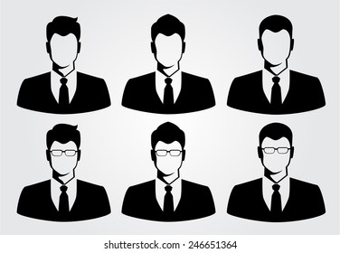 silhouette business man