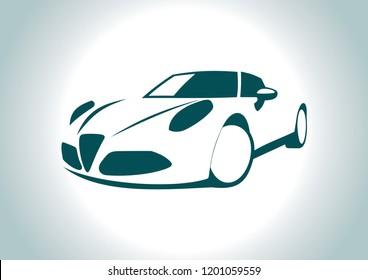 the silhouette of the car. alfa romeo.