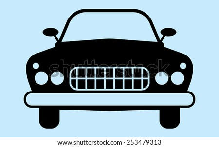 Silhouette Car Not Associated Any Brand Stock Vector Royalty Free