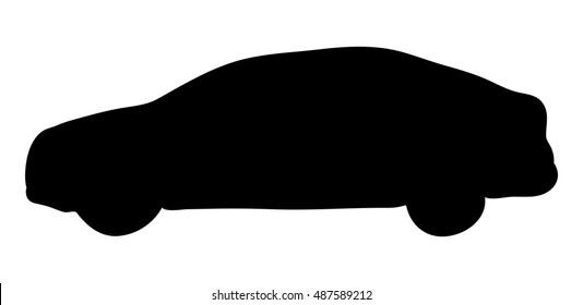 silhouette car vector symbol icon design. Beautiful illustration isolated on white background