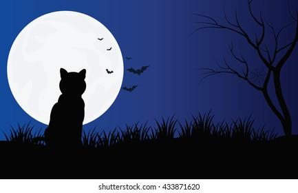 Black Cat Silhouette Images Stock Photos Amp Vectors