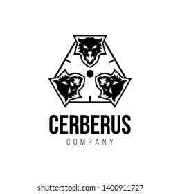 Silhouette Cerberus, Cerberus Heads Logo Design Inspiration