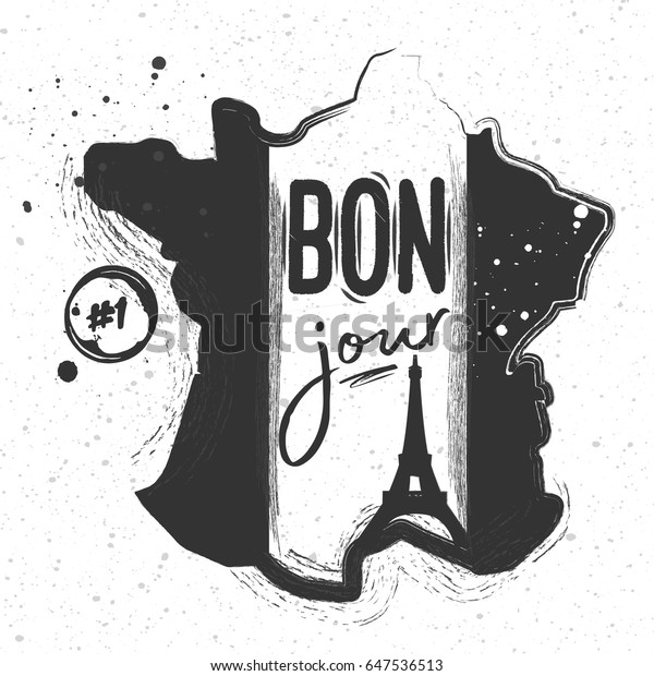 Map Of France Eiffel Tower.Silhouette Chalk Map France Eiffel Tower Stock Vector Royalty Free
