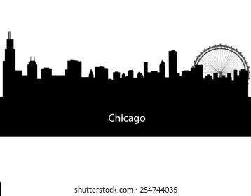 silhouette of Chicago city