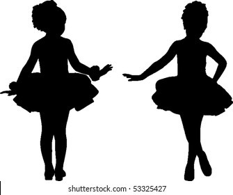 Silhouette of children ballet