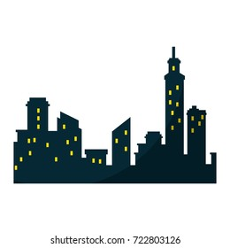 silhouette of city buildings icon