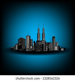 Silhouette of cityscape vector background