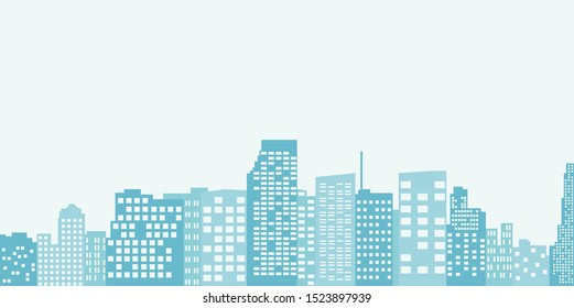 silhouette of cityscape - vector illustration