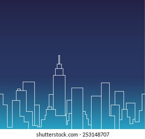 Silhouette of the cityscape vector illustration background
