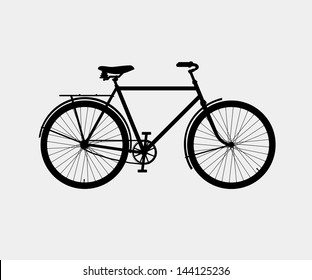 silhouette of a classic bike