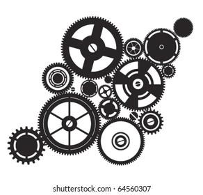 silhouette clockwork