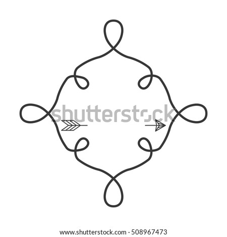 Silhouette Continued Lines Arrow Stock Vector Royalty Free