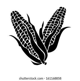 Silhouette of a corn