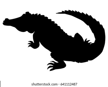 silhouette of crocodile