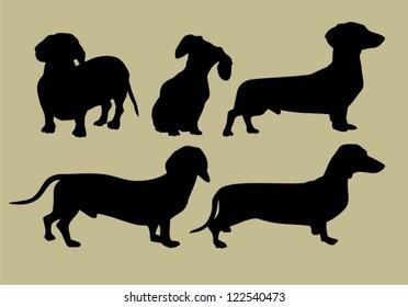 silhouette of Dachshund